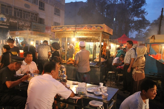 Night market in Korla