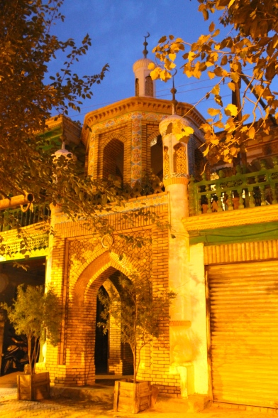 "Mosque at dusk in New ""Old"" Town in Kashgar"