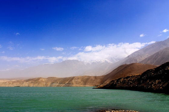 Lake along the Karakoram Highway