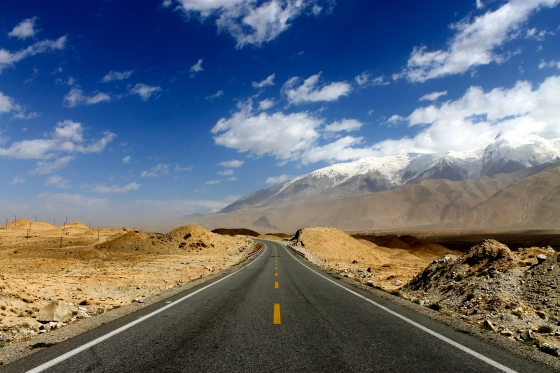 The Karakoram Highway, en route to the border of Pakistan