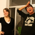 Our toughest beer pong opponents: Amanda and J. Han (who had never played before)