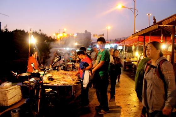 Night market, Xishuangbanna